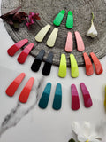EVOGIRL Multicolour Metal Matte Blissful Snap Hair Clips 5 cm Multicolor Glossy Medium Tic Tac, Pk