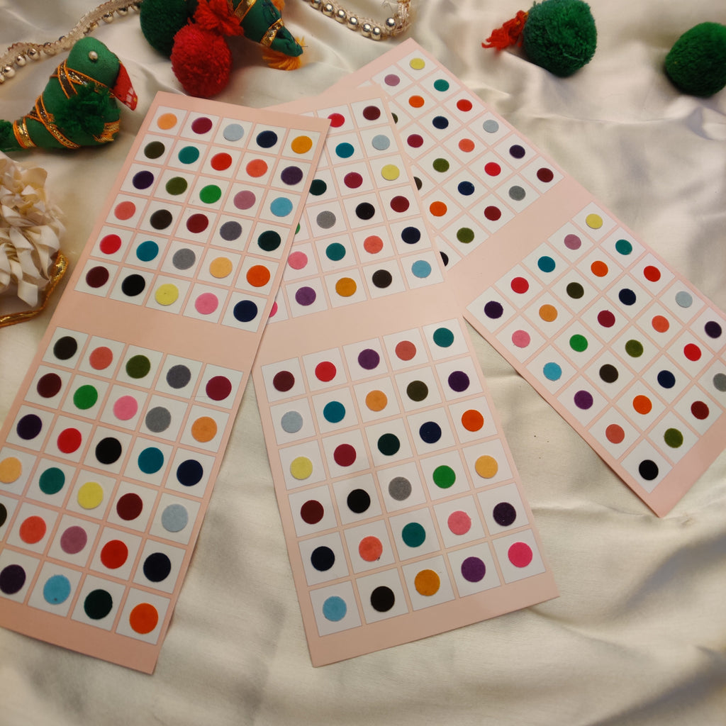 Evogirl Bindi Plain Evergreen Mix & Match Playfull Multicolored, XL Size-9, For Traditional Wear/Women (Pack Of 120)