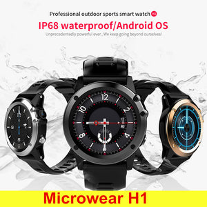 Microwear 3G Smartwatch Phone, 1.39 Inch, Android 4.4, 4GB, GPS, Waterproof, IP68, 2.0MP Camera, Pedometer
