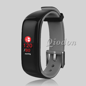 SmartWatch Squared Blood Pressure, Heart Rate Monitor, Fitness Watch