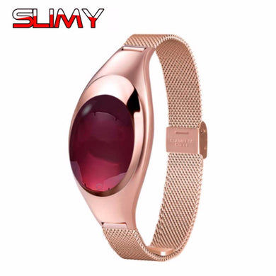 Slimy Rose Gold Smart Watch Waterproof, Blood Pressure Measuring, Heart Rate