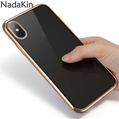 Luxury Plating Crystal Clear TPU Case