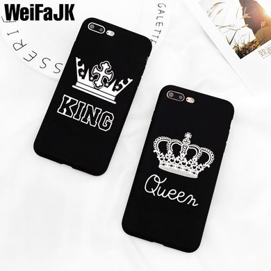 King/ Queen Case Black Matte Silicone