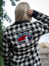 World Axe Throwing League White Axe Master Flannel