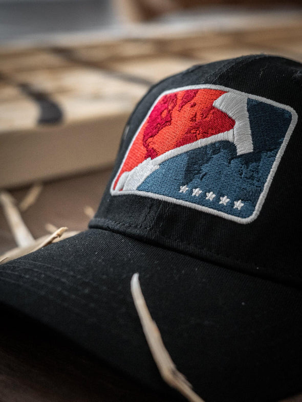 World Axe Throwing League Baseball Cap Logo