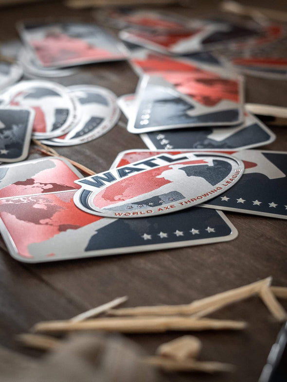 World Axe Throwing League Stickers