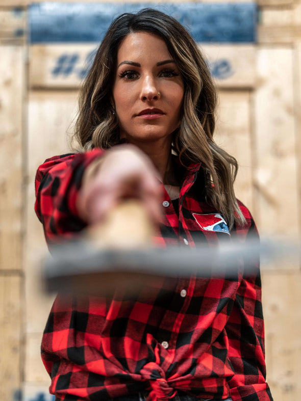 World Axe Throwing League Apparel Flannel Female