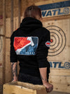 World Axe Throwing League Flag Hoodie