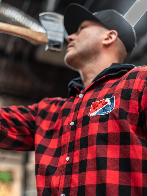 World Axe Throwing League Apparel Flannel Male