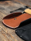 World Axe Throwing League Premium Leather Sheaths Close Up