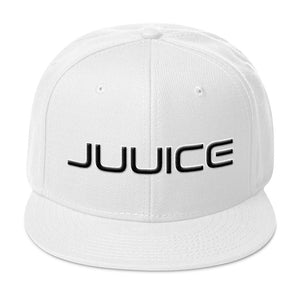 Juuice Puffy Icon Snapback Hat in White