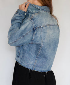 Reworked Crop Denim Jacket