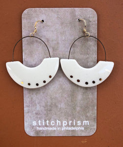 Porcelain Half Hoop Earrings