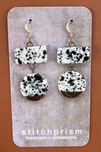 Multi Shape Porcelain Dangle Earrings