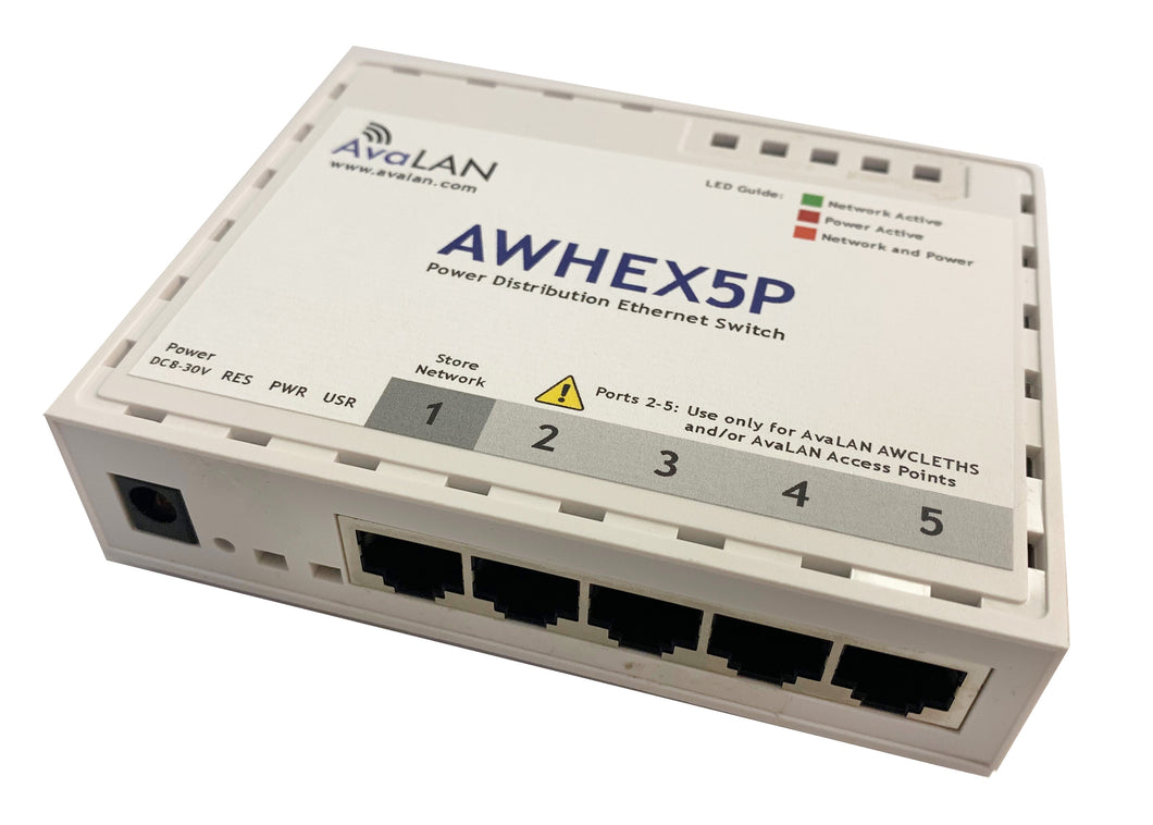 AWHEX5P Power Distribution Ethernet Switch