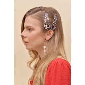 H apparel by Hispania Accesorios Jumbo hair clip set