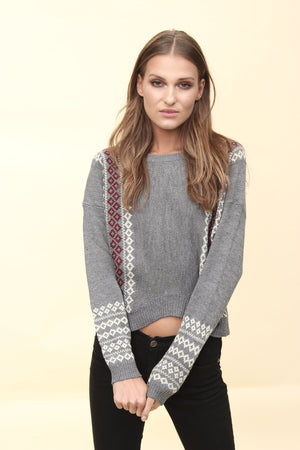 H apparel by Hispania Ropa Knitwear etnic sweater.