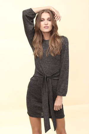 H apparel by Hispania Ropa Sweater dress with belt.