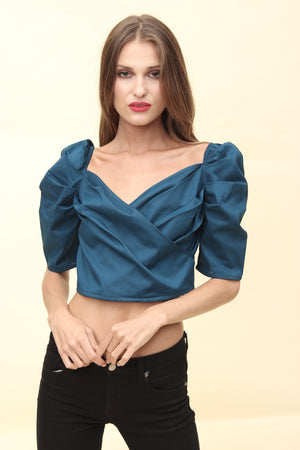 H Apparel Ropa Blusa popelina crop top