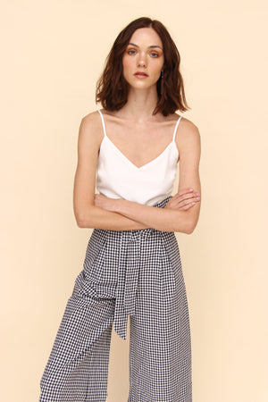 H Apparel Ropa S / Black Palazzo culotte gingham