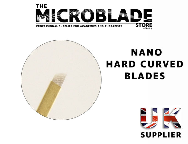 Professional Microblading - Nano Gold Curve Microblade Hard - 0.18mm - The Microblade Store