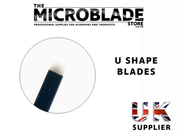 Professional Microblading - U Shape Flexi Microblades - 0.18mm - The Microblade Store