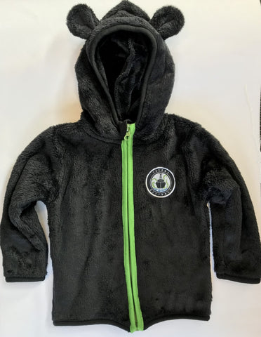 Black Child/ Toddler/ Youth Teddy Full Zip Hood