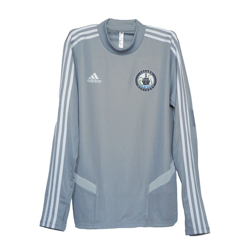 Gray Adidas Defiance Tiro Crew Training Top