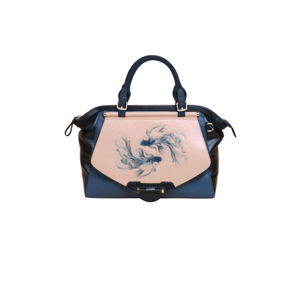Fish Large Blue Satchel
