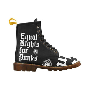 No Fixed Abode Equal Rights for Punks Combat Boots