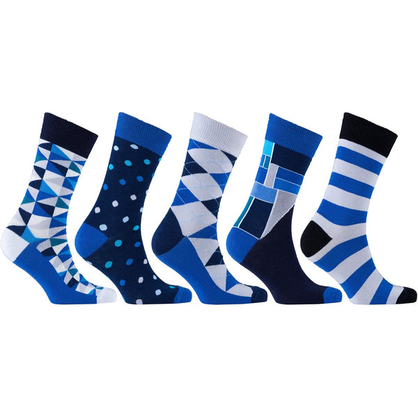 Men's 5-Pair Cool Mix Socks-3035