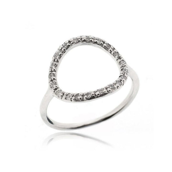 CZ OPEN CIRCLE RING