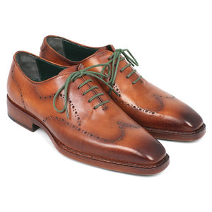 Paul Parkman Men's Wingtip Oxford Goodyear Welted Camel Brown (ID#87CML66)