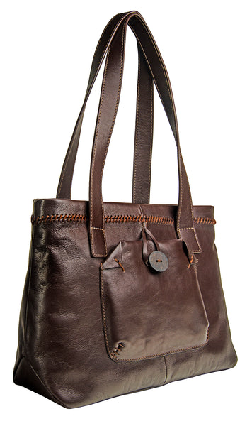 Hidesign Stitch Leather Handcrafted Shoulder Bag