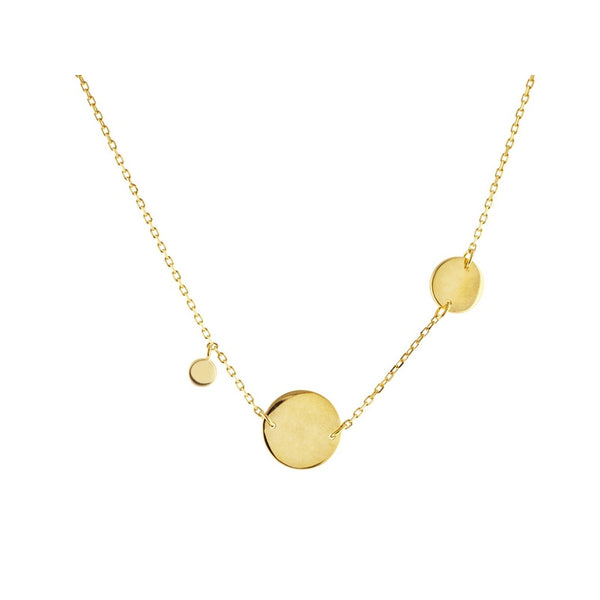 Engravable Golden Greek Discs Necklace