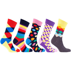 Men's 5-Pair Cool Mix Socks-3025