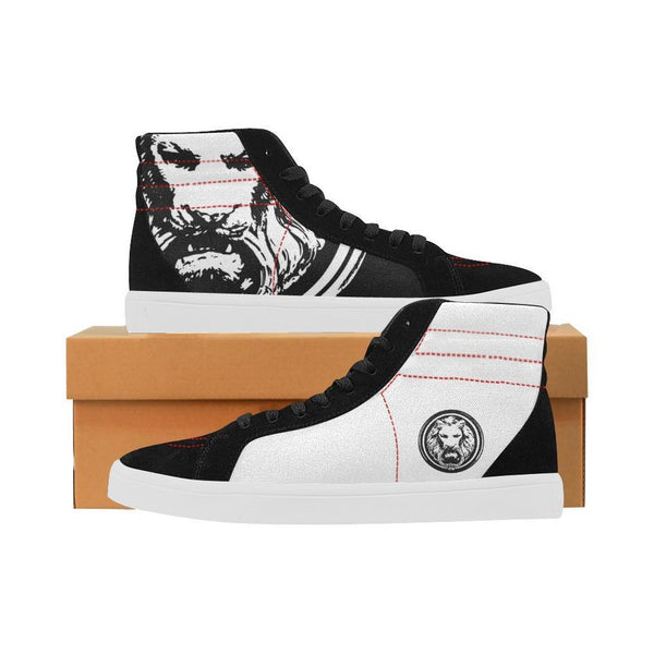 Mens Black & White Skate High Tops