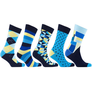 Men's 5-Pair Fun Mix Socks-3033