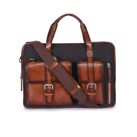 Leather Laptop Bag -PRM633