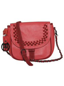 Women's Leather Crossbody Bag - PR948