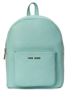 Leather Sea Green Backpack