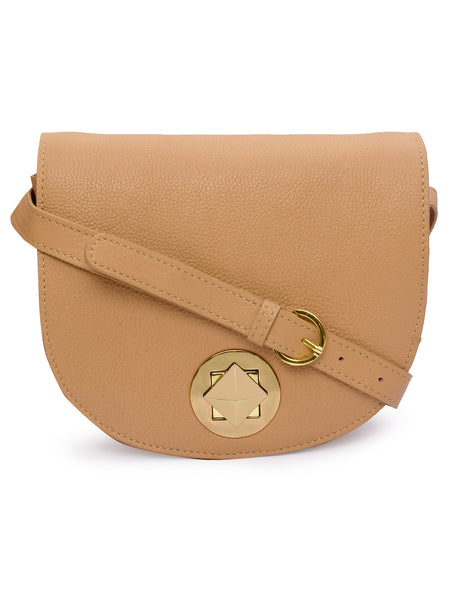 Women's Leather Crossbody Bag - PRU1351
