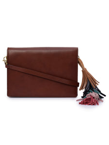 Women's Leather Cross Body Bag - PRU1367