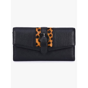 Phive Rivers Women's Black Leather Wallet - PR428