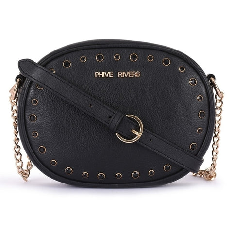 Leather Black Crossbody Bag