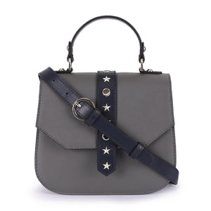 Leather Grey Crossbody Bag