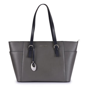 Leather Grey Handbag