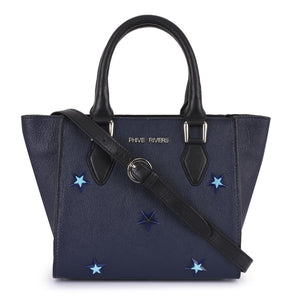 Leather Navy Handbag