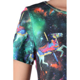 Crop top with illustrated print