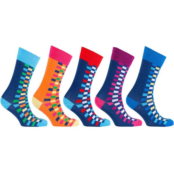 Men's 5-Pair Fun Patterned Socks-3057